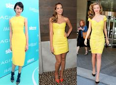 Who wore it best? Three beautiful stars step out in bright yellow. | E! Online