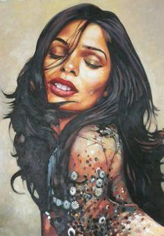"Saatchi Art Artist Thomas Saliot; Painting, ""Freida (Sold)"" #art"