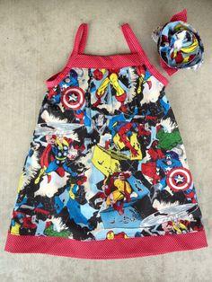 Marvel's the Avengers Baby Dress & Headband