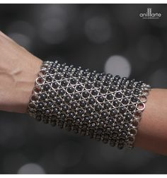 Bracelet out of Steel andCrystal Hematite - Anillarte