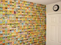 Pokemon Card wall Good way to get rid of un-used doubles