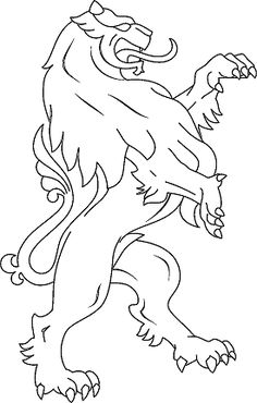 lion coat of arms coloring page