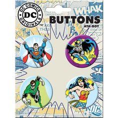 DC COMICS BUTTON SET 4