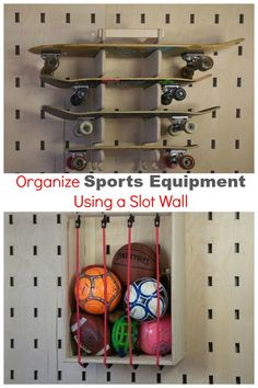 I've never heard of a slot wall but this would be amazing in my garage for organizing my kids' sporting equipment. http://www.hometalk.com/l/3E5