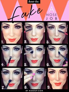 how to contour your nose with makeup // love this tutorial, it totally changes the look of your nose! incredible....this is a good idea for portrait makeup for those people who almost always wind up with their nose looking twice its actual size in photographs.