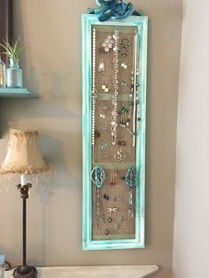 DIY Schmuck Organizer – DIY Jewelry Idea – - About jewelry organizer diy Jewellery Organizer Diy, Diy Jewelry Holder, Jewelry Hanger, Jewelry Stand, Jewellery Storage, Jewellery Display, Diy Earring Holder, Diy Necklace Holder, Ring Organizer
