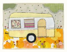 caravan design 349521621058441150 - Sharon Blackman: Caravans & christmas designs… Source by iheusel Fabric Cards, Fabric Postcards, Hand Applique, Applique Patterns, Applique Ideas, Small Quilts, Mini Quilts, Free Motion Embroidery, Machine Embroidery