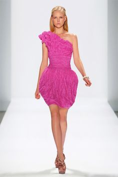 Tadashi Shoji Crinkled Taffeta One Shoulder Dress with Petal Detail #CocktailDress #NYFW #SS12 ©DAN & CORINA LECCA