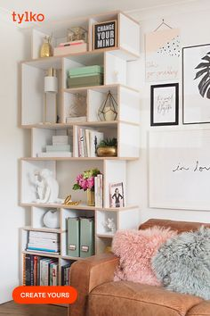 Room Ideas Bedroom, Bedroom Decor, Fall Home Decor, Diy Home Decor, Modern Bookcase, Space Saving Furniture, Aesthetic Rooms, My New Room, Scandinavian Style