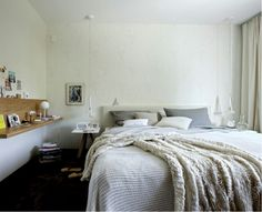 Love the calm colours in this bedroom