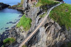 Carrick-a-Rede Rope Bridge. Another one of Northern Ireland's attractions. So exhilarating, especially on a windy day!