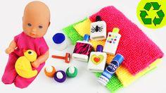 DIY MINIATURE DOLL BATHROOM PRODUCTS  - Easy Doll Crafts - simplekidscrafts