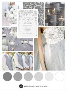 30 Timeless Grey and White Fall Wedding Ideas | Gray wedding ...
