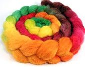Spinning Fiber - Baby Alpaca Combed Top / Roving - Turning Leaves