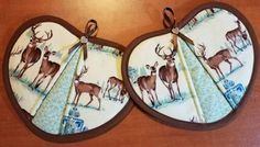 Check out this item in my Etsy shop https://www.etsy.com/listing/504131858/handmade-deer-handy-heart-potholders