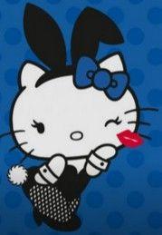 Hello Kitty Teams Up With Playboy For A New Kind of Cute Sexy - Interest - Anime News Network Hello Kitty Art, Hello Kitty Pictures, Hello Kitty Items, Sanrio Hello Kitty, Kitty Kitty, Bad Kitty, Little Twin Stars, Kawaii, Princesas Disney Dark