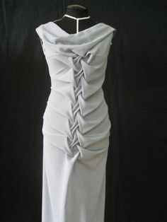 Fabric Manipulation - smocked dress design; draping; smocking; creative pattern cutting; sewing inspiration by carlene