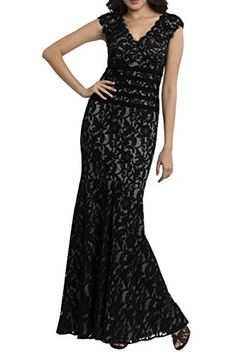 Dora Bridal Cap Sleeve V-Neck Mermaid Lace Evening Dresses Party Formal Prom Gowns Size 2 US Black Dora Bridal http://www.amazon.com/dp/B0140PEKEW/ref=cm_sw_r_pi_dp_VNzlwb0J80TVJ