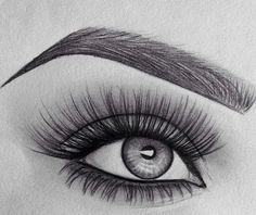 Imagem de eye, drawing, and art