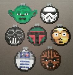 Star Wars Christmas Ornaments or Coasters Beads by Phitoe on Etsy