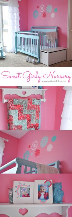 I adore this sweet nursery for a baby girl! The details are my favorite part.