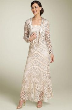 Crochet+Dress | Champagne Soulmates Beaded Crochet Dress and Jacket.jpg