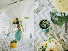 chevron wedding ideas | VIA #WEDDINGPINS.NET