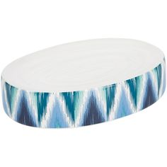 Moeve Ikat Soap Dish - Blue ($12) ❤ liked on Polyvore featuring home, bed & bath, bath, bath accessories, blue, ceramic bath accessories, ceramic soap holder, blue soap dish, ceramic bathroom accessories and blue bathroom accessories