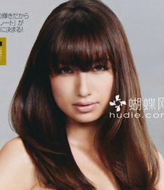 Mayumi Sada - medium length straight hair with bangs