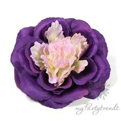 elegante Haarrose/Ansteckrose in violett, Ø 12 cm von Boutique für wundervolle Accessoires zum Liebhaben! auf DaWanda.com