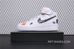 04c9ff3ff1 BQ6474-100 Nike Air Force 1 AF1 Just Do It Collaboration Mid Top Casual  Sneaker Super Deals. New Adidas ShoesNew ...