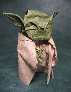 Yoda origami ... Really?! How long did that take you?!