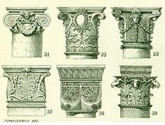 1897 Capitals Architecture Doric Order Roman column Antique