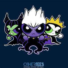 """Villainpuff Girls"" by absolemstudio Shirt on sale until 22nd Feb on www.othertees.com #powerpuffgirls #disney #villains #maleficent"