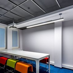 Office ceilings Simple Armstrong Ceilings Europe On Instagram our Mesh Layin Board Was Used At The Headquarters Of Dąbrowskie Wodociągi Polish Water Supply Company To Help Celtic Ceilings Partitions 248 Best Ceilings For Offices Images In 2019 Metal Ceiling Office