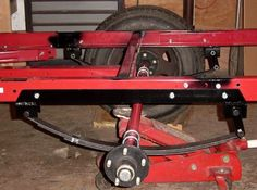 Tried of your Harbor Freight frame based compact camping trailer bouncing down the road because of stiff springs that are overrated for your lightweight trailer? There is an easy bolt-on fix, my Smooth Ride Spring Retrofit kit, for details visit http://dinoot.com/components-pricing/frame-parts.html