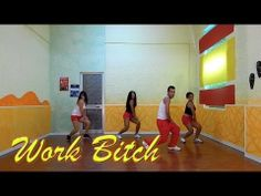 ▶ Zumba Fitness WORK BITCH by Britney Spears - Official Choreography 2014 - Ballo di Gruppo - YouTube