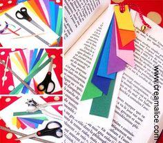 ¨°o.O Marque-page coloré / DIY paper bookmark O.o°¨  www.creamalice.com