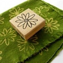 How To Stamp With Bleach On Fabric.  Love it! I've got some great stamps to try this with.