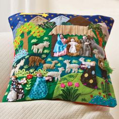 Decor - Arpillera Nativity Pillow | SERRV