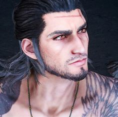 Those eyes Final Fantasy Xv, Final Fantasy Artwork, Final Fantasy Characters, Final Fantasy 15 Gladiolus, Blood Hunter, Walking Tall, Noctis, 3d Face, My Heart Is Breaking