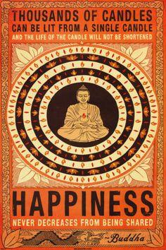 Thousands Of Candles Buddha Motivational Kunstdrucke bei AllPosters.de