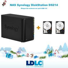 Grand jeu de Noël LDLC ! Vous avez voté pour : NAS Synology DS214 + 2 disques dur de 2 To : http://www.ldlc.com/fiche/PB00155398.html http://www.ldlc.com/fiche/PB00133400.html  RDV le 27/11 pour vous inscrire à notre grand jeu de Noël !