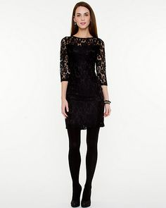 Lace Scoop Back Cocktail Dress - Sophisticated lace and a scoop back are a must-have this party season.