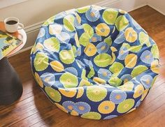 Bean Bag Chair - free sewing pattern. These are great for playrooms or just hanging out with the family on the deck or porch!