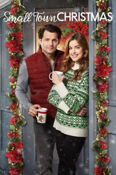 Its a Wonderful Movie - Your Guide to Family and Christmas Movies on TV: Small Town Christmas - a Hallmark Movies & Mysteries Miracles of Christmas Movie starring Ashley Newbrough & Kristoffer Polaha! Hallmark Filme, Hallmark Weihnachtsfilme, Films Hallmark, Hallmark Holiday Movies, Christmas Movies On Tv, Hallmark Channel, Christmas Poster, Cozy Christmas, Christmas Bells