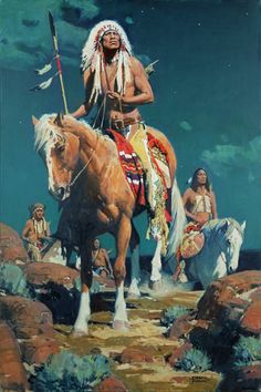 Mann, Omen in the Sky, oil, 36 x 24 Native Americans Indians by David Mann Art @ GoyakhalaNative Americans Indians by David Mann Art @ Goyakhala Native American Horses, Native American Warrior, Native American Paintings, Native American Pictures, Native American History, Indian Paintings, American Indians, Abstract Paintings, Art Paintings