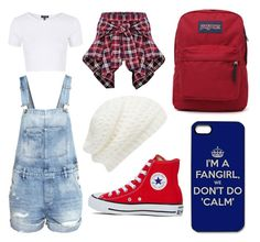"""""""outfit 13"""" by girlybunny ❤ liked on Polyvore featuring Topshop, H&M, Converse, JanSport and Forever New"""