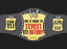 Wrestling Birthday Invitation by HappyGirlCreative on Etsy, $18.00