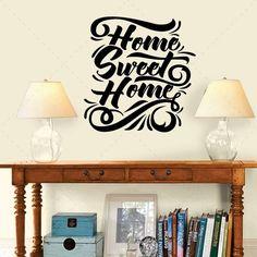 Home sweet Home - Textos e Citações - Decoração em vinil Autocolante decorativo